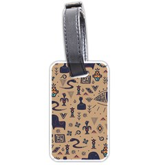 Vintage Tribal Seamless Pattern With Ethnic Motifs Luggage Tag (two sides)