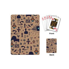 Vintage Tribal Seamless Pattern With Ethnic Motifs Playing Cards Single Design (Mini)