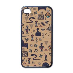 Vintage Tribal Seamless Pattern With Ethnic Motifs iPhone 4 Case (Black)