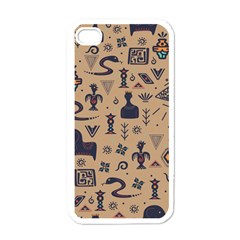 Vintage Tribal Seamless Pattern With Ethnic Motifs iPhone 4 Case (White)