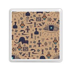 Vintage Tribal Seamless Pattern With Ethnic Motifs Memory Card Reader (Square)