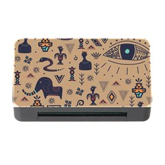 Vintage Tribal Seamless Pattern With Ethnic Motifs Memory Card Reader with CF