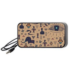 Vintage Tribal Seamless Pattern With Ethnic Motifs Portable Speaker