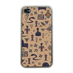 Vintage Tribal Seamless Pattern With Ethnic Motifs iPhone 4 Case (Clear)