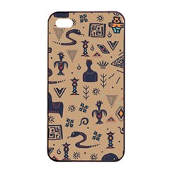 Vintage Tribal Seamless Pattern With Ethnic Motifs iPhone 4/4s Seamless Case (Black)