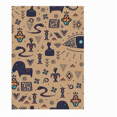 Vintage Tribal Seamless Pattern With Ethnic Motifs Large Garden Flag (Two Sides)