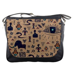 Vintage Tribal Seamless Pattern With Ethnic Motifs Messenger Bag