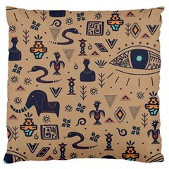 Vintage Tribal Seamless Pattern With Ethnic Motifs Large Cushion Case (Two Sides)