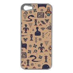 Vintage Tribal Seamless Pattern With Ethnic Motifs iPhone 5 Case (Silver)
