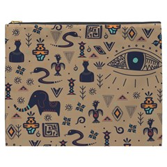 Vintage Tribal Seamless Pattern With Ethnic Motifs Cosmetic Bag (XXXL)
