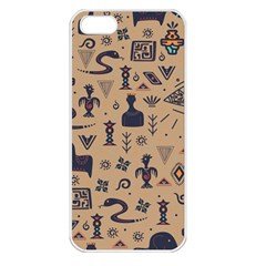Vintage Tribal Seamless Pattern With Ethnic Motifs iPhone 5 Seamless Case (White)