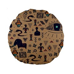 Vintage Tribal Seamless Pattern With Ethnic Motifs Standard 15  Premium Round Cushions