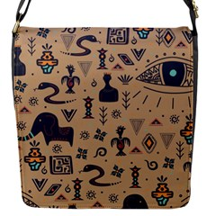Vintage Tribal Seamless Pattern With Ethnic Motifs Flap Closure Messenger Bag (S)