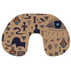 Vintage Tribal Seamless Pattern With Ethnic Motifs Travel Neck Pillow