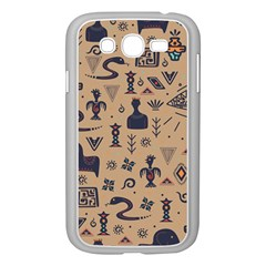 Vintage Tribal Seamless Pattern With Ethnic Motifs Samsung Galaxy Grand DUOS I9082 Case (White)