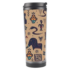Vintage Tribal Seamless Pattern With Ethnic Motifs Travel Tumbler
