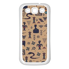 Vintage Tribal Seamless Pattern With Ethnic Motifs Samsung Galaxy S3 Back Case (White)