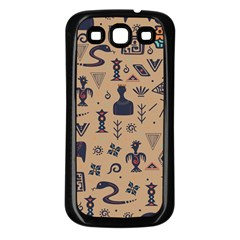 Vintage Tribal Seamless Pattern With Ethnic Motifs Samsung Galaxy S3 Back Case (Black)