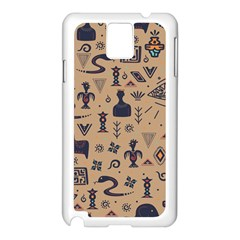 Vintage Tribal Seamless Pattern With Ethnic Motifs Samsung Galaxy Note 3 N9005 Case (White)