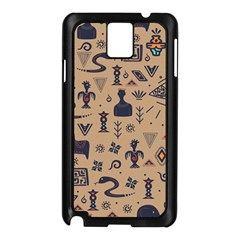 Vintage Tribal Seamless Pattern With Ethnic Motifs Samsung Galaxy Note 3 N9005 Case (Black)