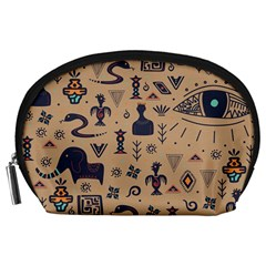 Vintage Tribal Seamless Pattern With Ethnic Motifs Accessory Pouch (Large)