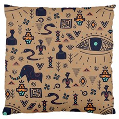 Vintage Tribal Seamless Pattern With Ethnic Motifs Large Flano Cushion Case (One Side)