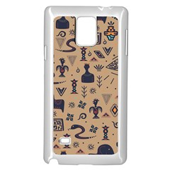 Vintage Tribal Seamless Pattern With Ethnic Motifs Samsung Galaxy Note 4 Case (White)