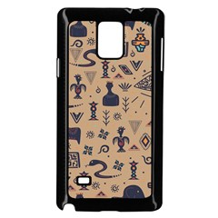 Vintage Tribal Seamless Pattern With Ethnic Motifs Samsung Galaxy Note 4 Case (Black)