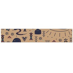 Vintage Tribal Seamless Pattern With Ethnic Motifs Large Flano Scarf