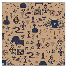 Vintage Tribal Seamless Pattern With Ethnic Motifs Large Satin Scarf (Square)