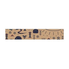 Vintage Tribal Seamless Pattern With Ethnic Motifs Flano Scarf (Mini)