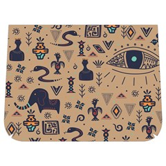 Vintage Tribal Seamless Pattern With Ethnic Motifs Buckle Messenger Bag