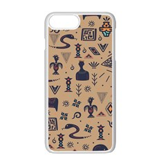Vintage Tribal Seamless Pattern With Ethnic Motifs iPhone 7 Plus Seamless Case (White)