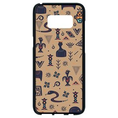 Vintage Tribal Seamless Pattern With Ethnic Motifs Samsung Galaxy S8 Black Seamless Case