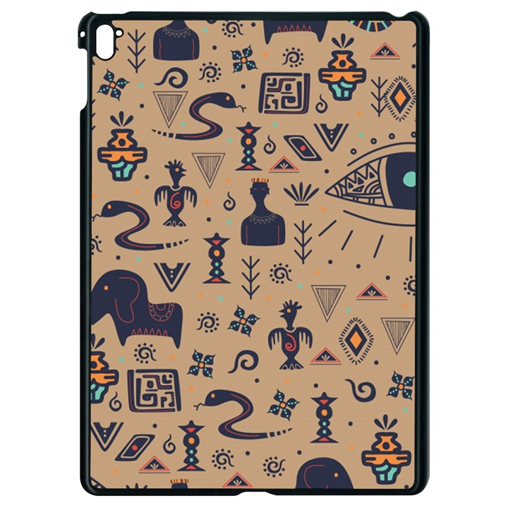 Vintage Tribal Seamless Pattern With Ethnic Motifs Apple iPad Pro 9.7   Black Seamless Case