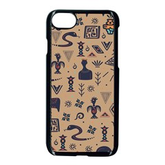 Vintage Tribal Seamless Pattern With Ethnic Motifs iPhone 8 Seamless Case (Black)