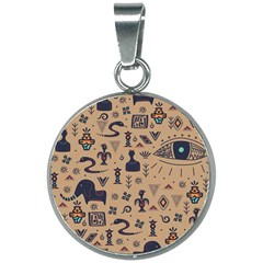 Vintage Tribal Seamless Pattern With Ethnic Motifs 20mm Round Necklace