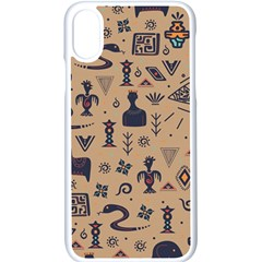 Vintage Tribal Seamless Pattern With Ethnic Motifs iPhone XS Seamless Case (White)