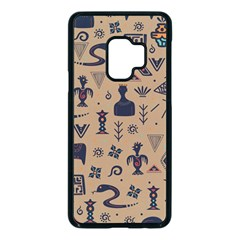 Vintage Tribal Seamless Pattern With Ethnic Motifs Samsung Galaxy S9 Seamless Case(Black)