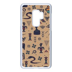 Vintage Tribal Seamless Pattern With Ethnic Motifs Samsung Galaxy S9 Plus Seamless Case(White)