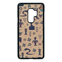 Vintage Tribal Seamless Pattern With Ethnic Motifs Samsung Galaxy S9 Plus Seamless Case(Black)