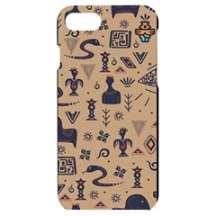 Vintage Tribal Seamless Pattern With Ethnic Motifs iPhone 7/8 Black UV Print Case