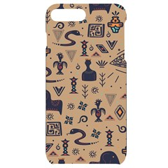 Vintage Tribal Seamless Pattern With Ethnic Motifs iPhone 7/8 Plus Black UV Print Case