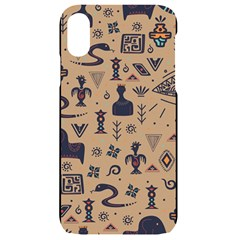 Vintage Tribal Seamless Pattern With Ethnic Motifs iPhone XR Black UV Print Case