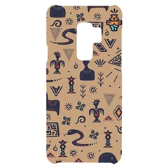 Vintage Tribal Seamless Pattern With Ethnic Motifs Samsung S9 Plus Black UV Print Case