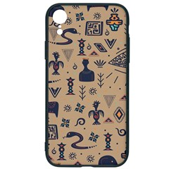 Vintage Tribal Seamless Pattern With Ethnic Motifs iPhone XR Soft Bumper UV Case