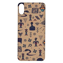 Vintage Tribal Seamless Pattern With Ethnic Motifs iPhone X/XS Soft Bumper UV Case