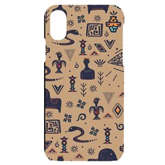 Vintage Tribal Seamless Pattern With Ethnic Motifs iPhone X/XS Black UV Print Case