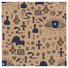 Vintage Tribal Seamless Pattern With Ethnic Motifs Wooden Puzzle Square