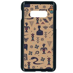 Vintage Tribal Seamless Pattern With Ethnic Motifs Samsung Galaxy S10e Seamless Case (Black)